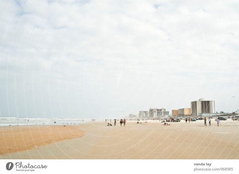 Daytona Landschaft Himmel Wellen Küste Strand Meer Atlantik Hafenstadt Haus Hochhaus Skyline Ferien & Urlaub & Reisen Ferne Daytona Beach USA Florida Farbfoto