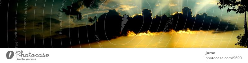 Sonnenuntergang02 Wolken