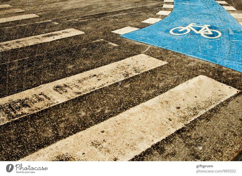 dead end blau Stadt Straße Wege & Pfade gehen Verkehr Schilder & Markierungen Fahrradfahren Symbole & Metaphern Asphalt stoppen Stadtzentrum Verkehrswege