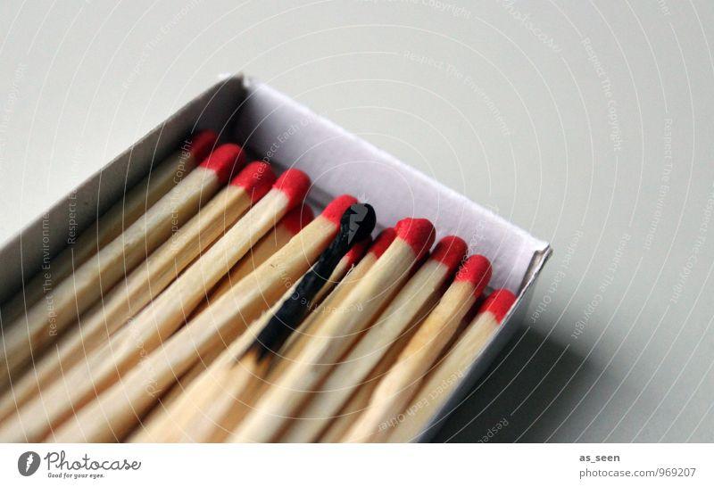 Burnout Feste & Feiern Erfolg Feuer Streichholz Holz Rauch leuchten Armut einfach Zusammensein rot schwarz Vorfreude Beginn Leidenschaft verbrannt brennen