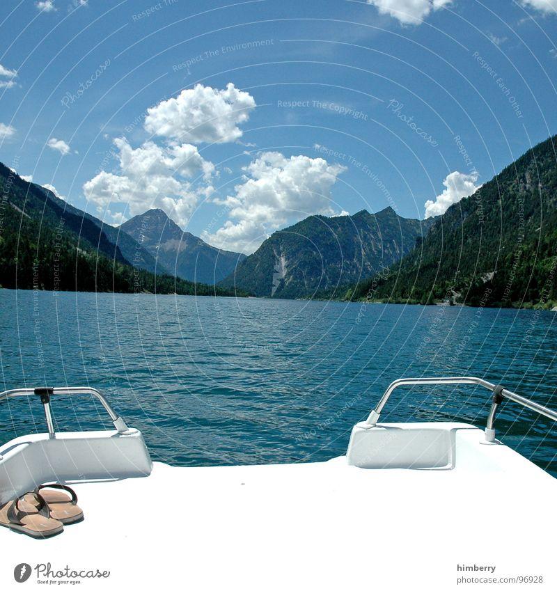 refresh royal VIII Himmel Wasser Wolken Spielen Berge u. Gebirge springen See Wasserfahrzeug Schwimmen & Baden Schwimmbad tauchen Erfrischung Österreich Segelboot Flipflops Tretboot