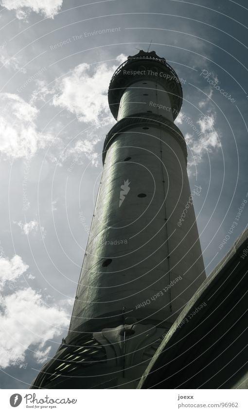 Freitagsgebet Leuchtturm Gebet Islam Minarett Moschee Wolken historisch Gotteshäuser Moral dies kein --- gebetsausrufer Himmel muezzin Turm