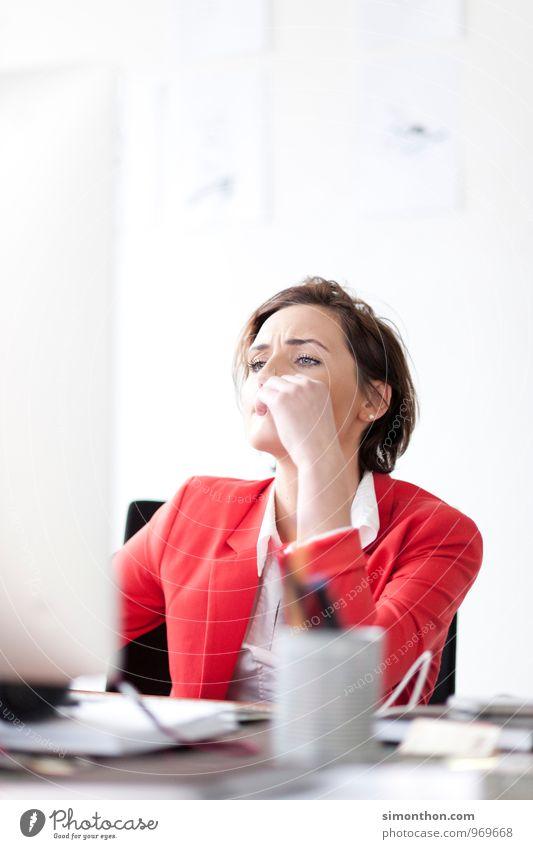 Internet Jugendliche Junge Frau Schule Business Büro Erfolg Studium lernen planen Bildung Geldinstitut Erwachsenenbildung Student Dienstleistungsgewerbe Stress Wirtschaft