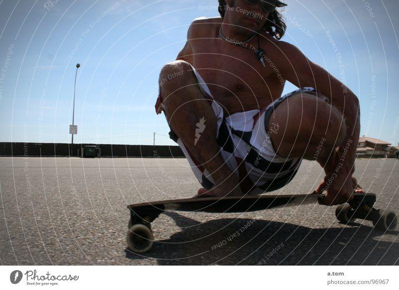 Keine Wellen II Sonne Meer Sommer Freude Strand Sport Spielen Küste Skateboard Schlüssel Parkplatz Muskulatur Rolle Seignosse