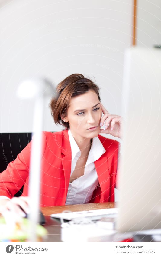 Bildschirm Berufsausbildung Azubi Praktikum Arbeit & Erwerbstätigkeit Business Unternehmen Karriere Erfolg Computer Tastatur Computermaus Technik & Technologie
