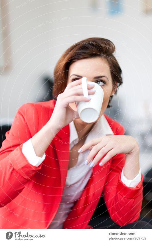 Kaffee Erholung feminin sprechen Stil Freizeit & Hobby Business elegant Büro Zufriedenheit Erfolg Studium Team Geldinstitut Sitzung Dienstleistungsgewerbe