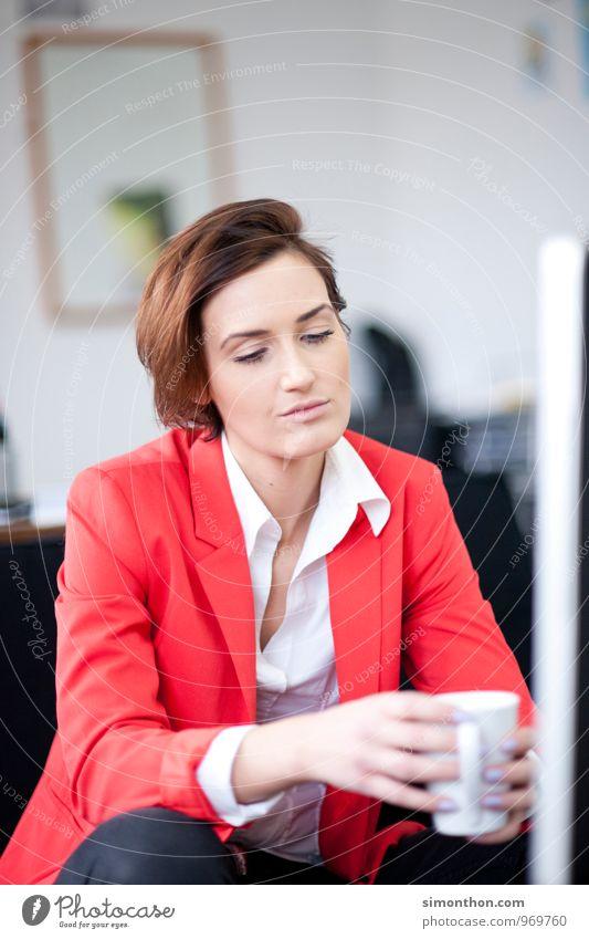 Daydream ruhig Traurigkeit feminin Stil Stimmung träumen Business Büro modern Zukunft Pause Macht Hoffnung planen Wunsch Konzentration