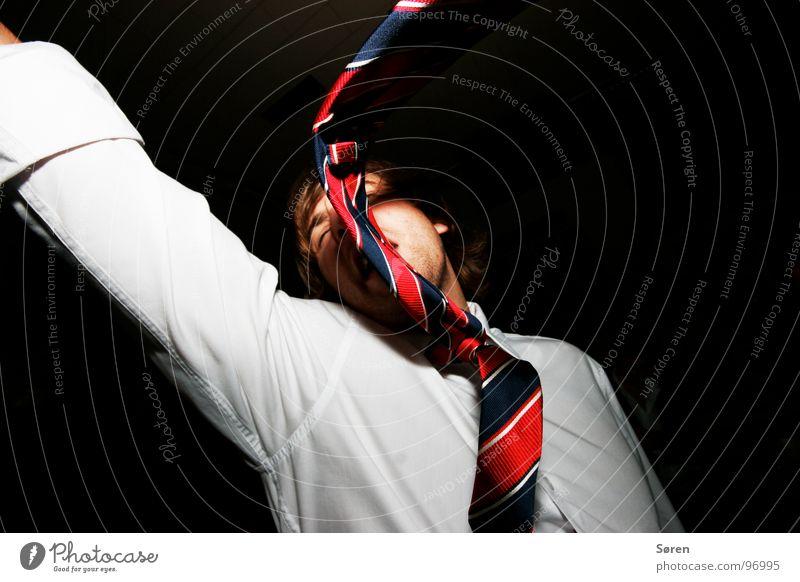 Partychik Krawatte Schweiß transpirieren unlogisch Konflikt & Streit Hemd Kragen springen Club Konzert Freude dressmen Feste & Feiern yeah! Leidenschaft Tanzen