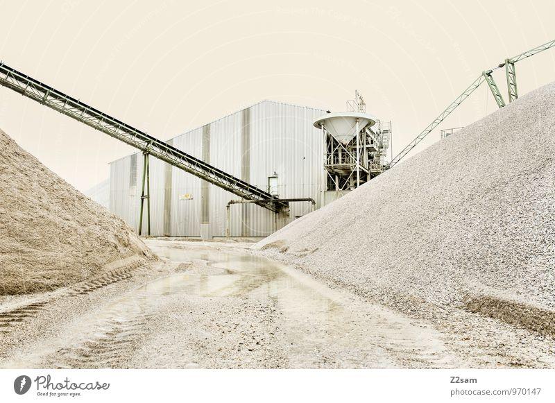 Industrieromantik II Farbe Einsamkeit ruhig Architektur Gebäude Sand Business Ordnung trist Energie ästhetisch Beton Romantik Baustelle Vergangenheit Verfall