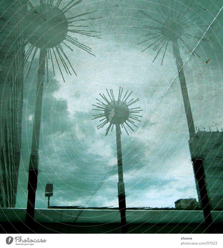 stachelturm2 Wasser Metall Kunst nass verrückt Kultur Dresden Kugel Brunnen Skulptur Wahrzeichen Surrealismus Pfütze Spiegelbild Stab Aluminium