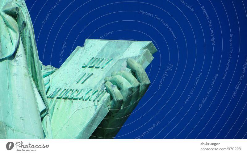 Tafel der Freiheitstatue Ferien & Urlaub & Reisen Tourismus einzigartig Hauptstadt Denkmal Wahrzeichen Sehenswürdigkeit Statue bizarr Feiertag Stars and Stripes