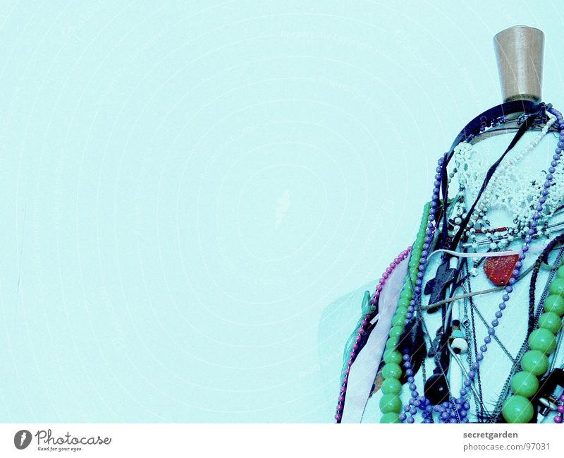 in ketten gelegt weiß grün schön ruhig Holz Kunst Raum rosa Rücken Freizeit & Hobby Design modern Coolness retro Schnur Kitsch