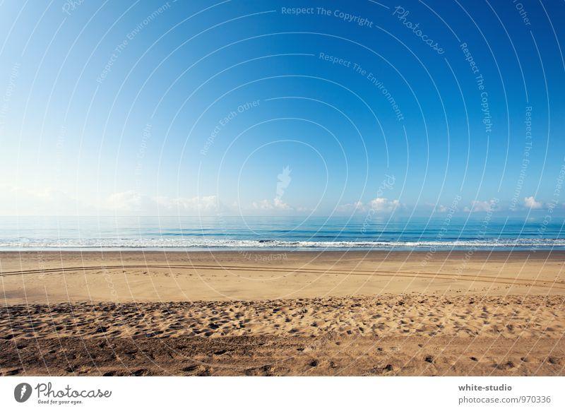 Welcome to the Beach! Ferien & Urlaub & Reisen Sommer Sonne Erholung Meer Einsamkeit ruhig Strand Ferne Gefühle Freiheit Sand Zufriedenheit Wellen Tourismus