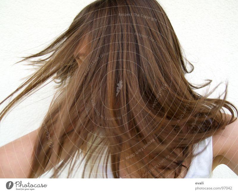 Gute-Laune-Tanz I chaotisch Schwung schütteln braun weiß Haare & Frisuren Verneinung verrückt Gute Laune Fröhlichkeit Gefühle fetzig Swing frisch Sommer T-Shirt