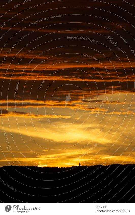 Apokalypse Umwelt Natur Landschaft Feuer Luft Himmel Wolken Horizont Sonne Sonnenaufgang Sonnenuntergang Sonnenlicht Sommer Klima Klimawandel Schönes Wetter