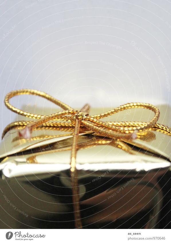 Geschenk Weihnachten & Advent Stil Feste & Feiern Design glänzend leuchten elegant gold Geburtstag Gold Neugier Hochzeit Überraschung Reichtum Vorfreude