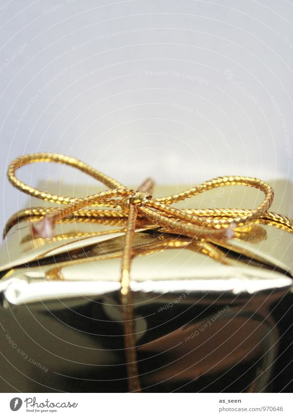 Geschenk Weihnachten & Advent Stil Feste & Feiern Design glänzend leuchten elegant gold Geburtstag Geschenk Gold Neugier Hochzeit Überraschung Reichtum Vorfreude
