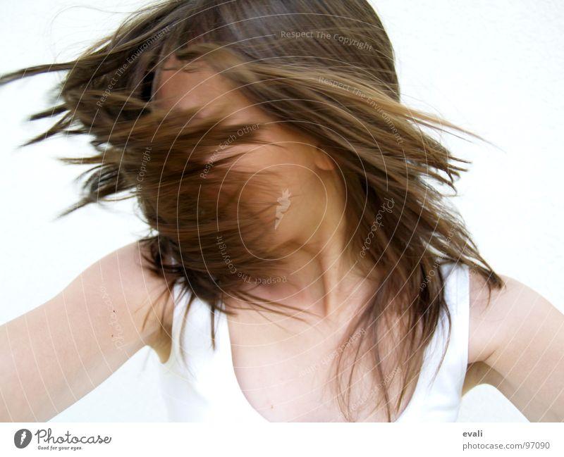 Gute-Laune-Tanz II Mensch Jugendliche weiß Sommer Freude Gesicht Gefühle Bewegung Haare & Frisuren Kopf braun Tanzen verrückt frisch Fröhlichkeit T-Shirt