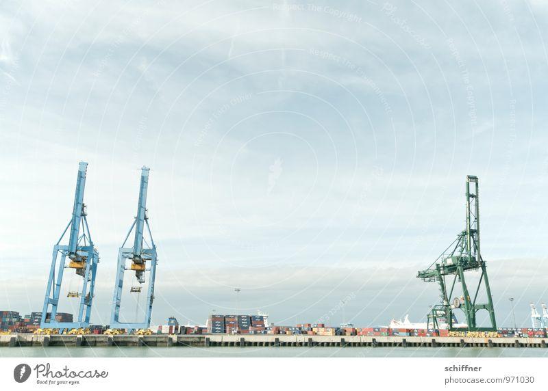 Belgische Giraffen, zugeneigt Technik & Technologie Industrie Schifffahrt Containerschiff Hafen Konkurrenz Güterverkehr & Logistik Containerterminal Neigung