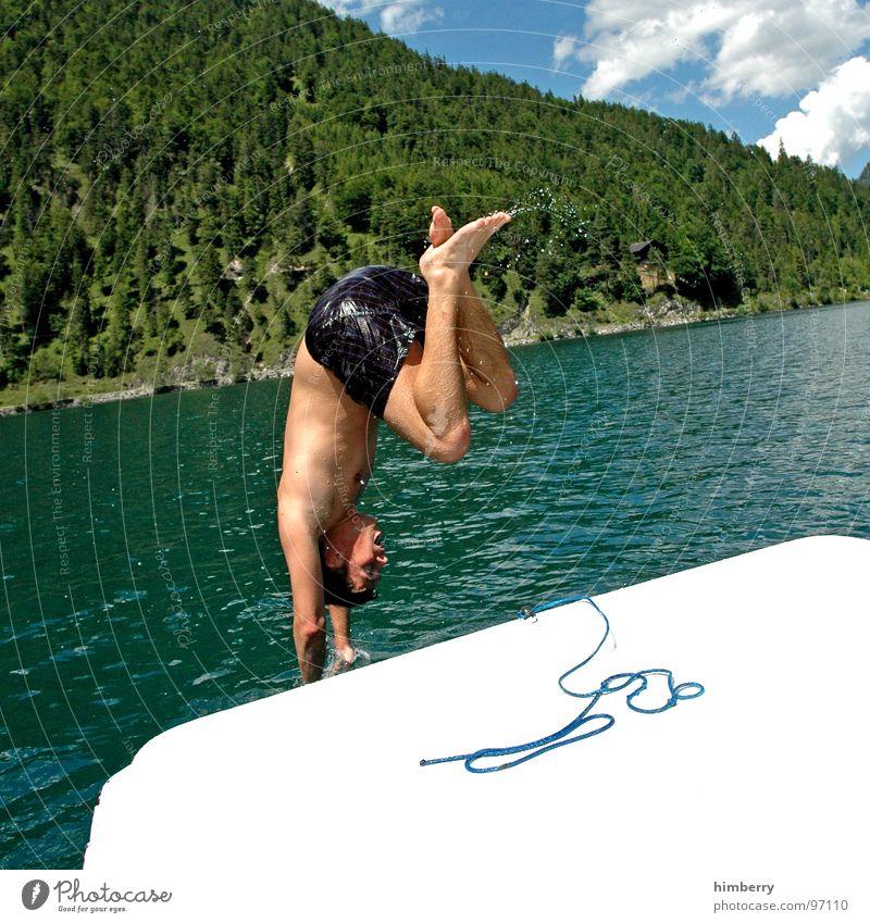 refresh royal X Mann Hand Wasser Sommer Sport springen Spielen Berge u. Gebirge See Wasserfahrzeug Schwimmbad tauchen Schwimmen & Baden Österreich Erfrischung Segelboot