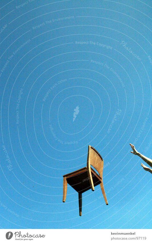 Los! Sommer Sturzflug Stuhl chair fly blue blau Himmel falling Luftverkehr fertig los! afr3ak moonx