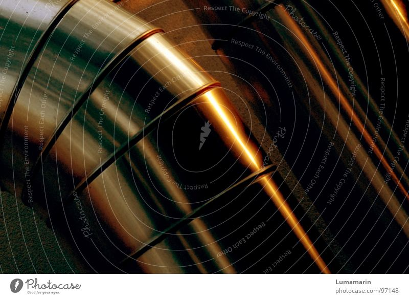 warm industry gelb kalt Wärme Metall braun gold glänzend mehrere Erfolg modern Elektrizität Industrie viele Fluss Physik Röhren