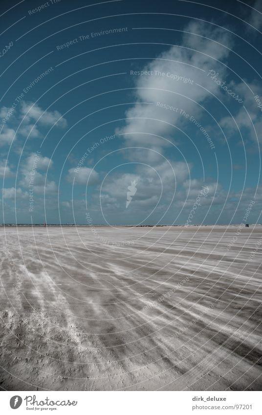 beach denmark Himmel blau weiß Strand Wolken Sand Wind Europa beige Dänemark