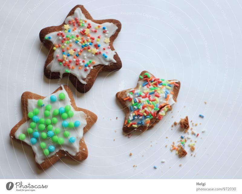 zum Naschen... Weihnachten & Advent schön weiß Lebensmittel braun Stimmung liegen frisch ästhetisch Kreativität Lebensfreude einzigartig Stern (Symbol) lecker Süßwaren Duft