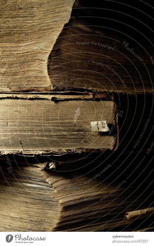 schweres Erbe alt Buch Papier lesen Seite historisch Stapel produzieren biblisch Antiquariat