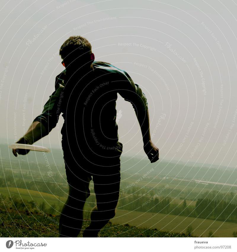 olympia 2007 linz Mensch Natur Mann blau grün Hand Sommer Spielen Bewegung Kraft fangen Dynamik Olympiade Mythologie Frisbee