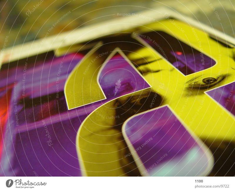 Postkarte Farbe Kopf liegen Tisch Postkarte Makroaufnahme