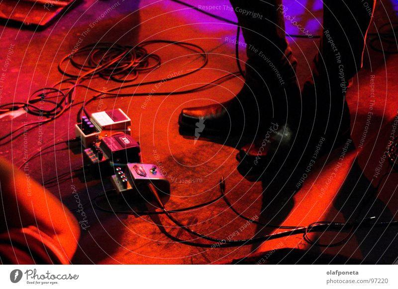 Schlenz Stiefel.... rot Musik Schuhe mehrere Kabel Show Konzert Schnur Rockmusik Gitarre Stiefel Rock `n` Roll Kontrabass Technik & Technologie Indie Hagen