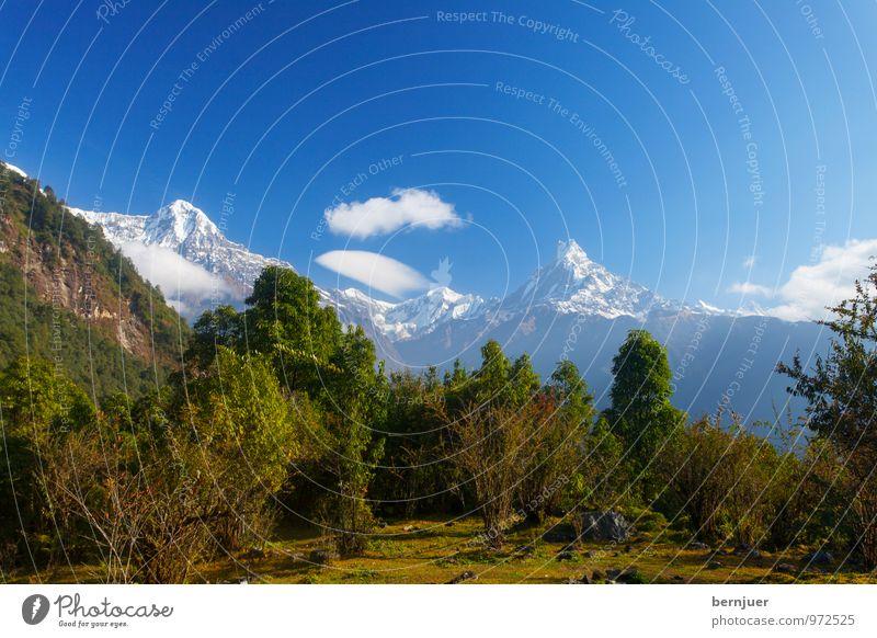 Anna und Machha Himmel Natur blau Pflanze weiß Baum Landschaft Wolken Berge u. Gebirge Herbst Wiese Schnee außergewöhnlich Luft wandern groß
