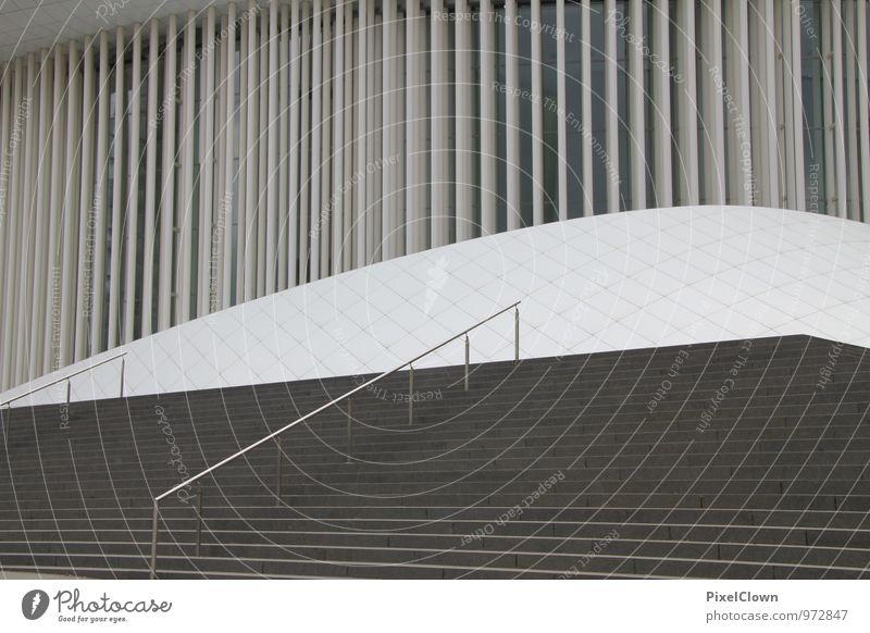Klare Linienführung Lifestyle Kunst Architektur Theater Kultur Bühne Oper Opernhaus Stadtzentrum Bauwerk Gebäude Stein Stahl außergewöhnlich schwarz weiß