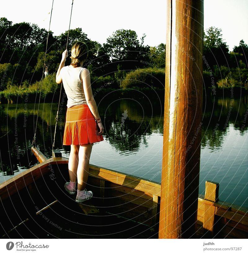 ...a pirate's life for me! Frau Wasser Meer Sommer Ferien & Urlaub & Reisen See Wasserfahrzeug Horizont Sehnsucht Segeln Schifffahrt Teich Fernweh Segelboot