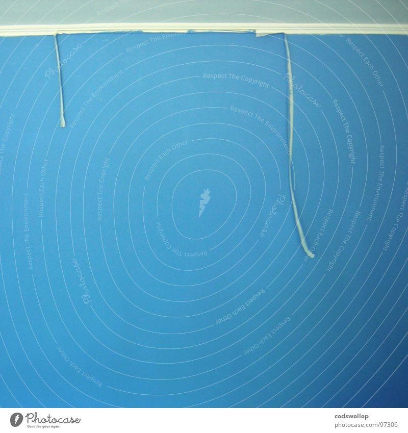selbstständige absenkungen blau Farbe kalt Wand Mauer Zeit Zusammensein Arbeit & Erwerbstätigkeit Ecke einfach genießen Handwerk Doppelbelichtung Decke Topf Haushalt