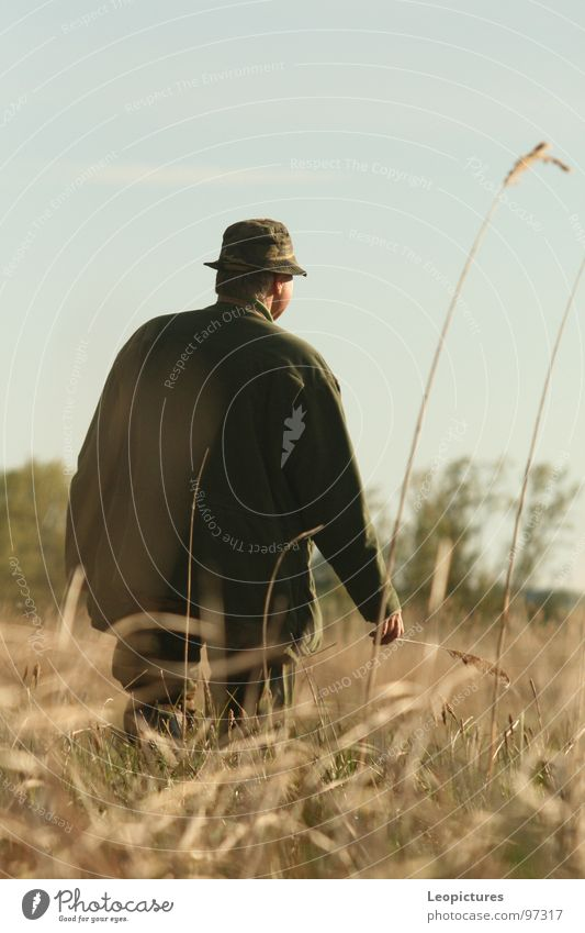 Reviergang Wildtier Jagd Jäger Pirsch