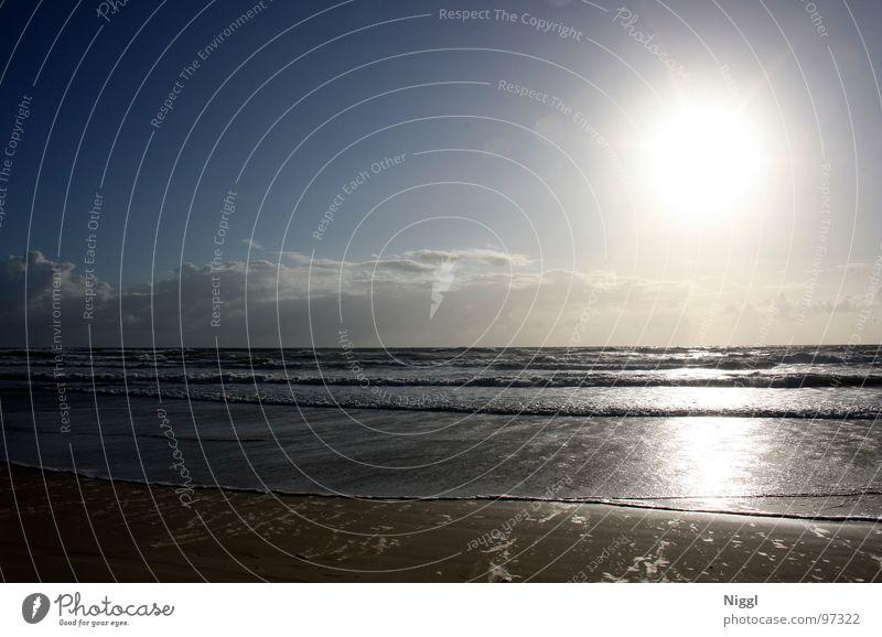 Fraser Wasser Himmel Meer Strand Ferien & Urlaub & Reisen Wolken hell Beleuchtung Wellen Küste glänzend Australien blenden Pazifik Queensland Fraser Island