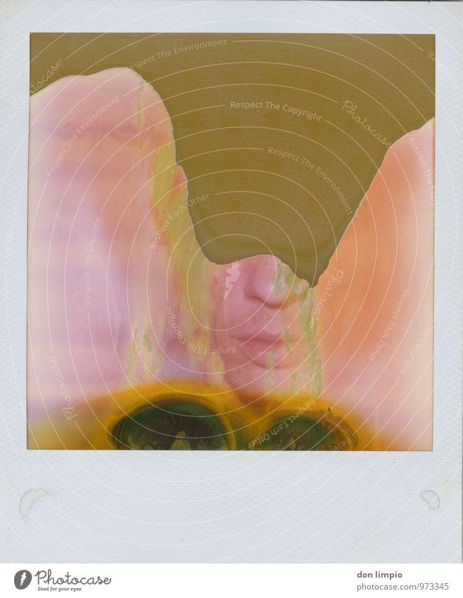bathing in microwaves maskulin Mann Erwachsene Gesicht 1 Mensch 30-45 Jahre warten Flüssigkeit nah Originalität retro trashig Wärme bizarr Farbe Stil