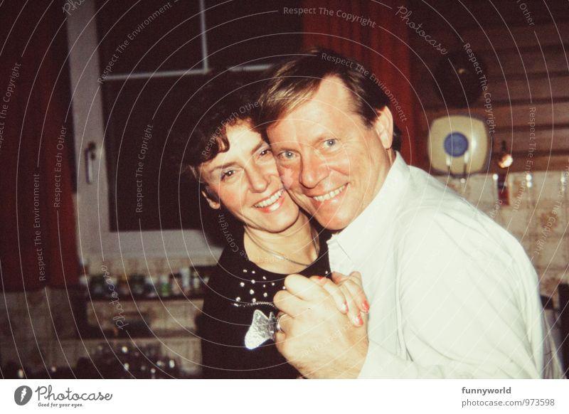 Strahlepaar Mensch Jugendliche Junge Frau Junger Mann feminin Liebe Glück Feste & Feiern Stimmung Kopf Paar maskulin Fröhlichkeit Lebensfreude retro Hochzeit