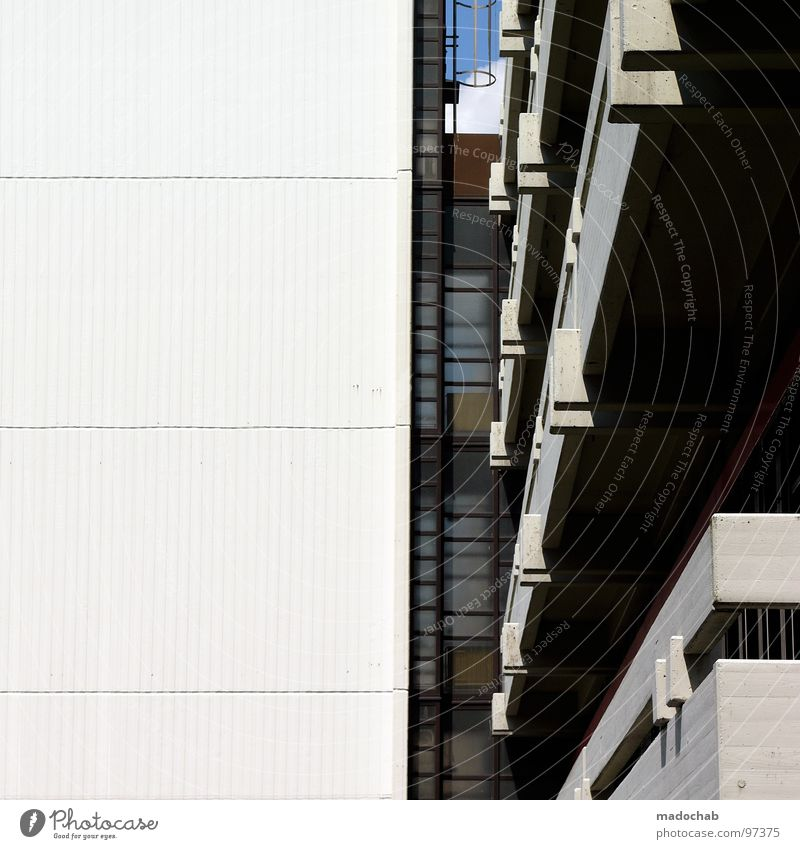 ARCHITECTURE Balkon Mauer Wand Beton graphisch Etage Fassade Gebäude Bremen Architektur Detailaufnahme Langeweile rchitecture balcony Teilung Stein Linie lines