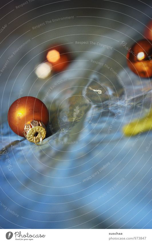 tingelingeling .. bling blau Weihnachten & Advent glänzend Dekoration & Verzierung rund Christbaumkugel