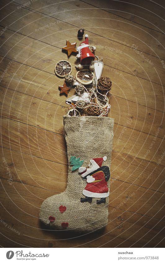dekokrimskrams II Weihnachten & Advent Winter Holz Kitsch Dekoration & Verzierung Sack Strümpfe Weihnachtsmann Nikolaus Stern (Symbol) Orangenscheibe
