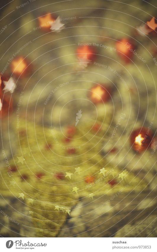 sternenglitzies Weihnachten & Advent Kitsch Krimskrams Dekoration & Verzierung Stern (Symbol) grün Farbfoto Innenaufnahme Experiment Muster Menschenleer