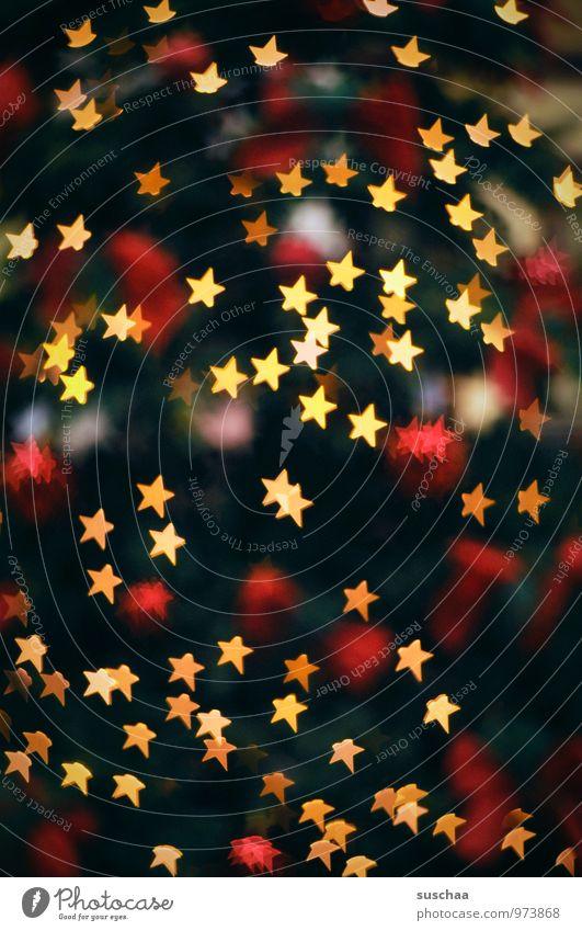 weißt du wieviel ... Feste & Feiern Weihnachten & Advent Winter glänzend festlich Licht Weihnachtsbaum Stern (Symbol) Farbfoto Innenaufnahme Experiment abstrakt
