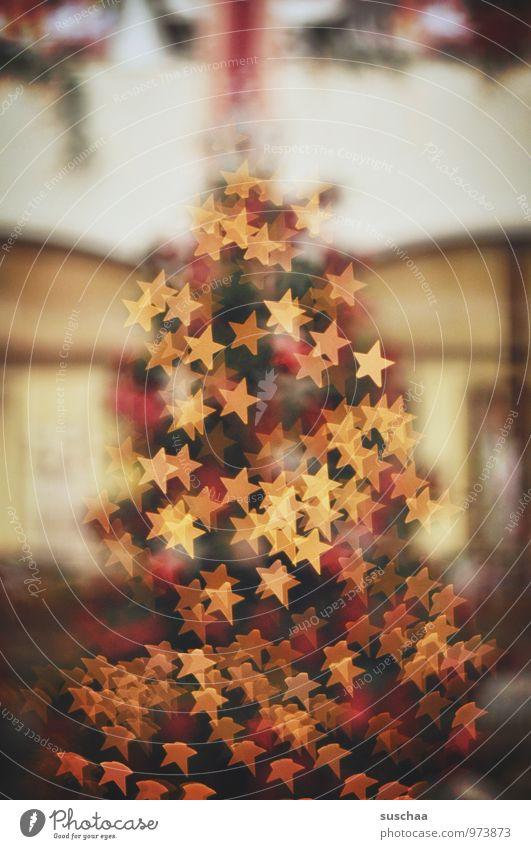 sternenbaum Winter Dekoration & Verzierung Feste & Feiern Weihnachten & Advent Zeichen Kitsch Weihnachtsbaum Baum Stern (Symbol) Licht Baumschmuck