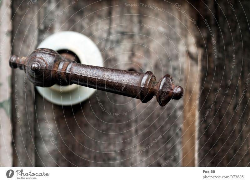 Retro / Türöffner alt weiß kalt Holz braun Kunst Metall Tür Kraft authentisch ästhetisch Idee einzigartig retro Kunststoff entdecken