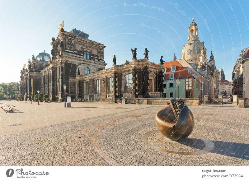 BRÜHLSCHE TERRASSE Dresden Sachsen Deutschland Frauenkirche Albertinum Denkmal Brühlsche Terrasse Ferien & Urlaub & Reisen Reisefotografie Idylle Postkarte