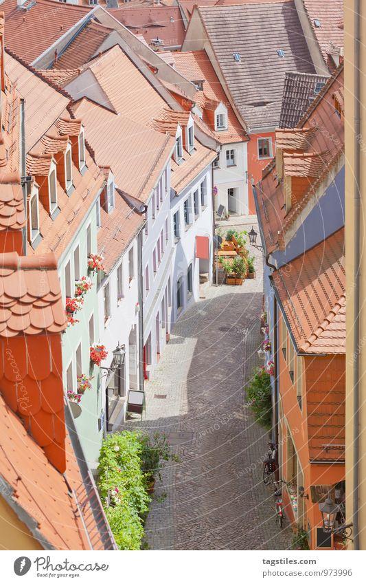 MEISSEN Meissen Gasse Straße Miniatur Sonnenstrahlen Sachsen Porzellan Altstadt historisch Elbe Ferien & Urlaub & Reisen Postkarte Deutschland Reisefotografie