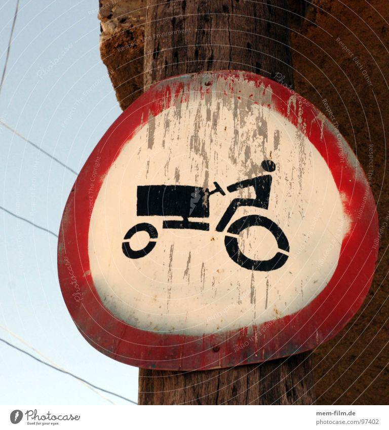 trekker nicht! Straße Schilder & Markierungen Verkehr Landwirtschaft Fahrzeug Kuba Verbote Biologische Landwirtschaft Piktogramm Verkehrsschild